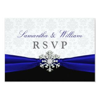 RSVPの発表を結婚する一流の冬 8.9 X 12.7 インビテーションカード