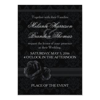 RSVPの白黒結婚式招待状 カード