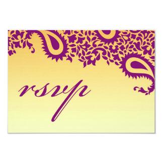 RSVPの結婚式のインドのスタイルカード カード