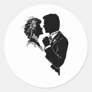RSVPの結婚式のステッカー ラウンドシール