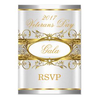 RSVPの金ゴールドの銀の白および金ゴールドのプラクのパーティー カード