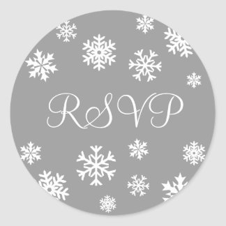 RSVPの雪片の封筒のステッカーのシール ラウンドシール