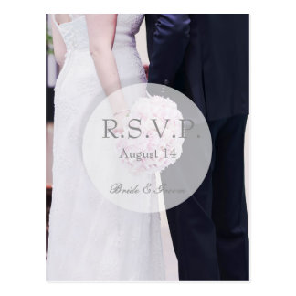 RSVPを結婚している花嫁及び新郎 ポストカード