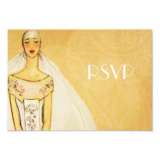 RSVPを結婚するエレガントな金ゴールド カード