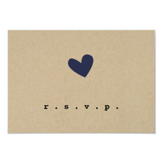RSVPを結婚するシンプルなハート カード