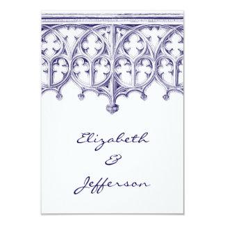 RSVPを結婚する濃紺のカテドラル カード