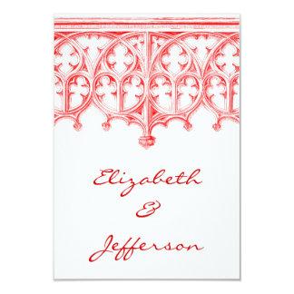 RSVPを結婚する赤いカテドラルは上がりました カード