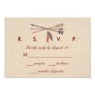 RSVPカードを結婚している夢のキャッチャー カード