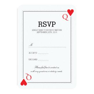 RSVPカードを結婚するカジノ カード