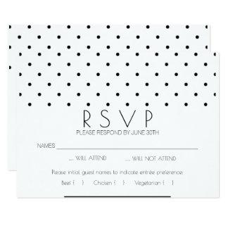 RSVPカードを結婚するシンプルな優雅 カード