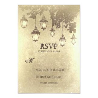 RSVPカードを結婚するランプをつるすヴィンテージ カード