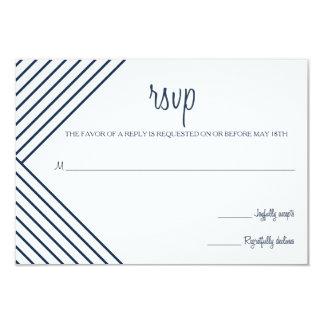 RSVPカードを結婚する濃紺の航海のなヨット 8.9 X 12.7 インビテーションカード