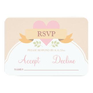 RSVPカードを結婚する甘いおとぎ話 カード
