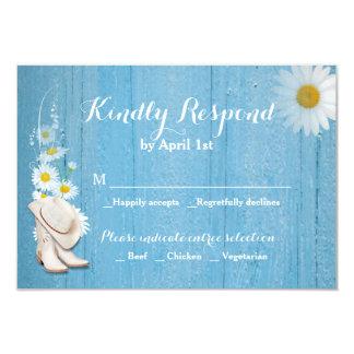 RSVPカードを結婚する素朴な国 カード