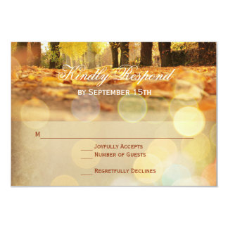 RSVPカードを結婚する素朴な紅葉の秋 カード