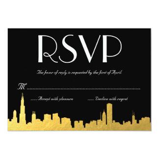 RSVPカードを結婚する都市スカイライン カード