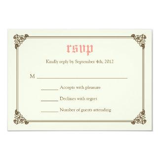 RSVPカード-ピンク--を結婚する物語の本のおとぎ話 カード