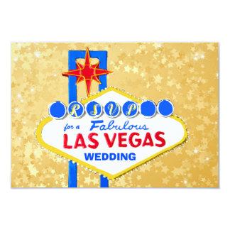 RSVP Wedding Reception Las Vegas Golden カード