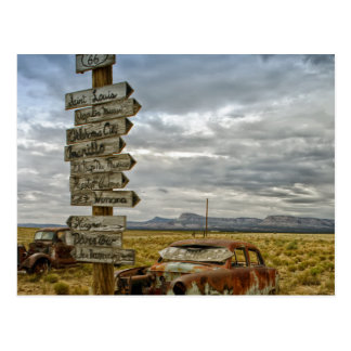 RT 66アリゾナの砂漠 ポストカード