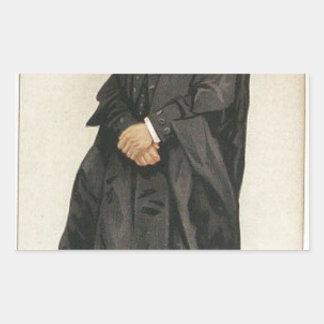 Rt Hon HBWの政治家No.1290の風刺漫画 長方形シール