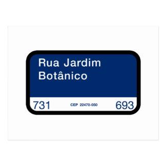 Rua Jardim Botânico、リオデジャネイロの通り ポストカード
