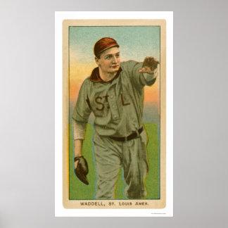Rube Waddellの野球1909年 ポスター