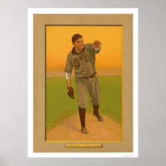 Rube Waddellは野球1911年を茶色にします ポスター