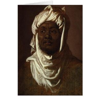 Rubens著ターバンを身に着けているアフリカの人の頭部 カード