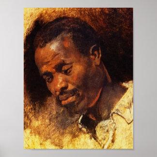 Rubens著黒人の頭部 ポスター