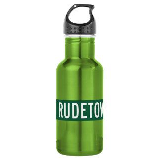 Rudetownの古い道、道路標識、ニュージャージー、米国 ウォーターボトル