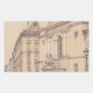 Rudo著ウィーンのMichaelerplatzそしてカーボン市場 長方形シール