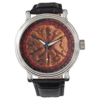 Rudrakshaの種の腕時計 腕時計