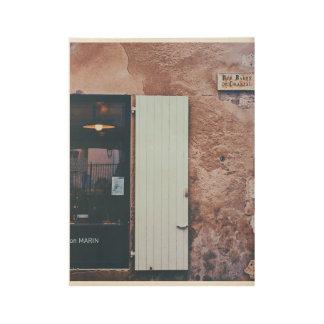 Rue男爵のdeシャンタル職人のフランスのな専門店 ウッドポスター