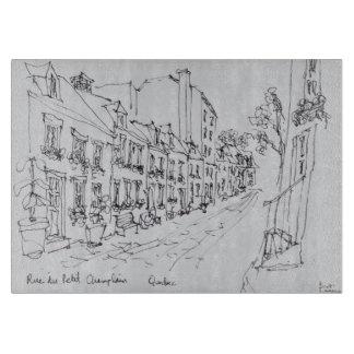 Rue du Petit Champlain、ケベック、カナダ カッティングボード