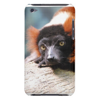 Ruffedの休息の赤いLemur Case-Mate iPod Touch ケース