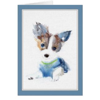Ruffell犬の挨拶状 カード