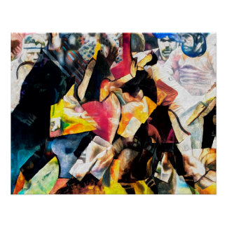 Rugby Action - Art On Canvas Print ポスター