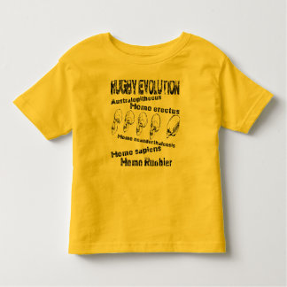 Rugby Evolution トドラーTシャツ