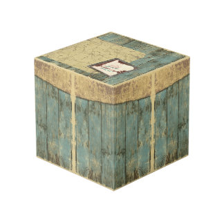 Rugged Blue Planks Photo Cube Paper Weight フォトキューブ