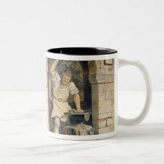 Ruhla、c.1854の鍛治屋 ツートーンマグカップ