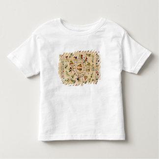 Rumal: パンジャブ語ダンを示す正方形の刺繍カバー トドラーTシャツ
