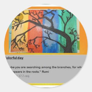 Rumiおよび色 ラウンドシール