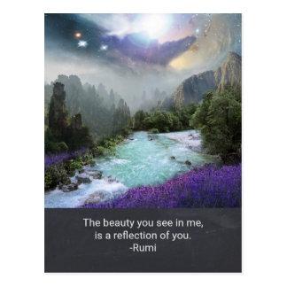 Rumiからの美しいのインスピレーションの引用語句 ポストカード