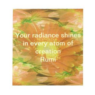 Rumiの光輝 ノートパッド