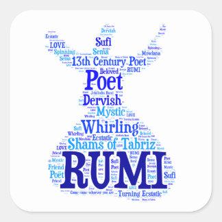 Rumiの単語の芸術 スクエアシール
