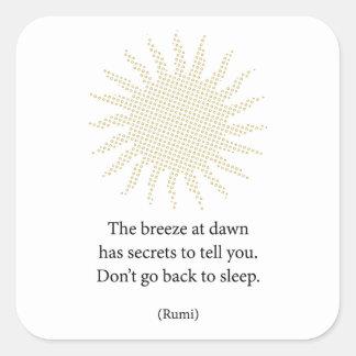 Rumiの朝の詩歌 スクエアシール