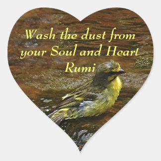 Rumiの洗浄私の精神からの塵 ハートシール