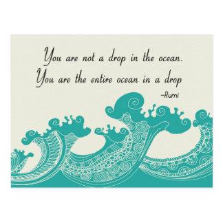 Rumiの海の引用文 ポストカード