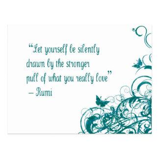 Rumi愛引用文 ポストカード