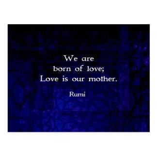 Rumi感覚についての感動的な愛引用文 ポストカード